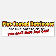 Potato Chips Flat Coated Retriever Bumper Bumper Bumper Sticker