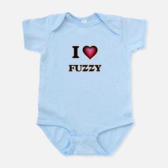 I love Fuzzy Body Suit