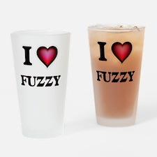 I love Fuzzy Drinking Glass