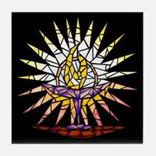 """""""Stained Glass"""" Chalice Tile Coaster"""