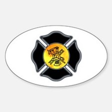 Fire Dept Oval Decal