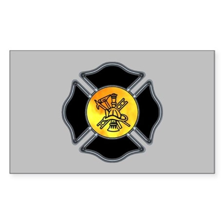 Fire Dept Rectangle Sticker