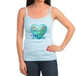 Mom Heart (blue) Jr. Spaghetti Tank
