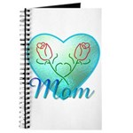 Mom Heart (blue) Journal
