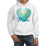 Mom Heart (blue) Hooded Sweatshirt