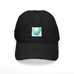 Mom Heart (blue) Black Cap