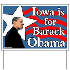 Iowa for Barack Obama Yard Sign