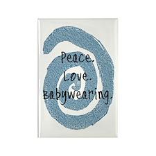 Peace. Love. Babywearing. Rectangle Magnet