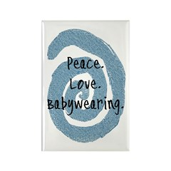 Peace. Love. Babywearing. Rectangle Magnet
