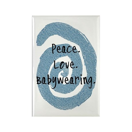 Peace. Love. Babywearing. Rectangle Magnet (10 pac