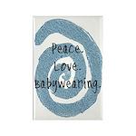 Peace. Love. Babywearing. Rectangle Magnet (100 pa