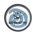 Peace. Love. Babywearing. Wall Clock