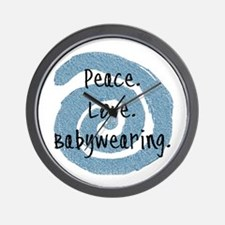 Peace. Love. Babywearing. Wall Clock