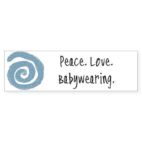 Peace. Love. Babywearing. Bumper Sticker