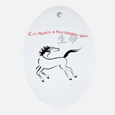 Chi Moves Mysterious Horse Oval Ornament