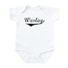 Wesley Vintage (Black) Infant Bodysuit