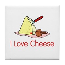 I love cheese Tile Coaster