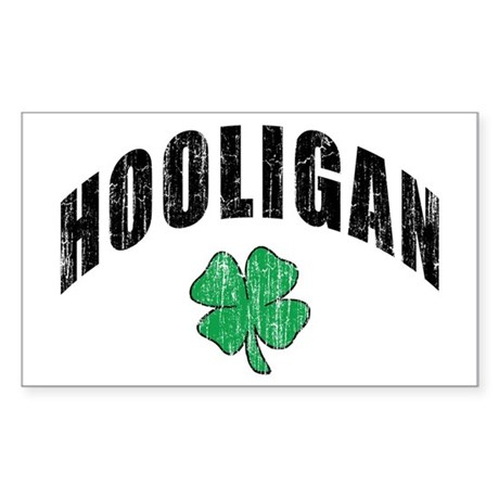 Irish Hooligan Rectangle Sticker