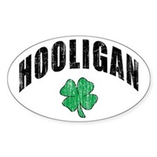 Irish Hooligan Oval Decal