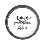 Future Professional Athlete Wall Clock