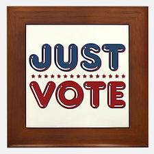 Just VOTE Framed Tile