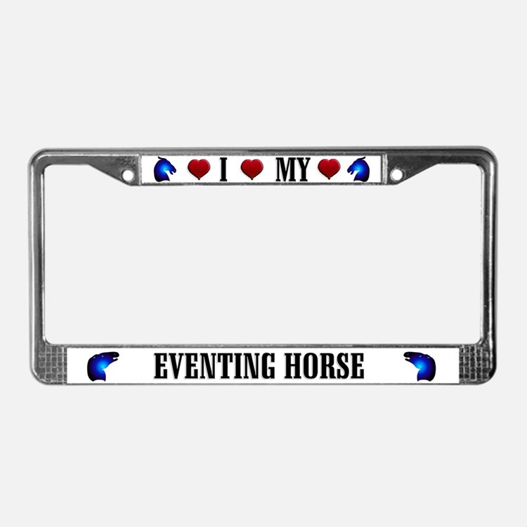 Eventing Horse License Plate Frame