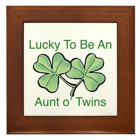 Lucky to be Aunt Framed Tile