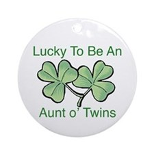 Lucky to be Aunt Ornament (Round)