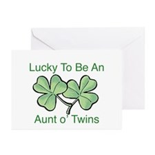 Lucky to be Aunt Greeting Cards (Pk of 10)