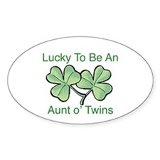 Lucky to be Aunt Oval Decal