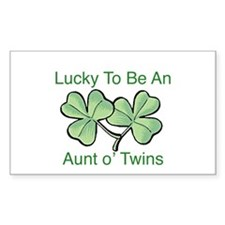 Lucky to be Aunt Rectangle Decal