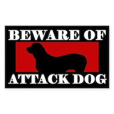 Beware of Attack Dog Fila Brasileiro Decal