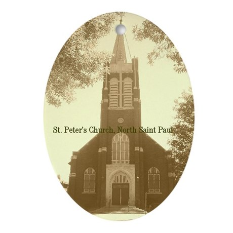 St. Peter Oval Ornament