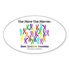 The More The Merrier Oval Decal