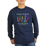 Downs syndrome chromosomes Long Sleeve T-shirts (Dark)
