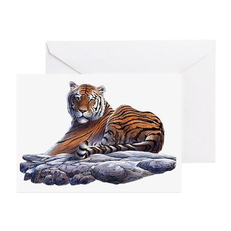 Tiger - 1 Greeting Cards (Pk of 10)