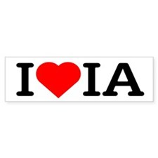 I Love Iowa - Bumper Bumper Sticker