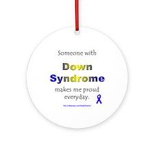 """""""Down Syndrome Pride"""" Ornament (Round)"""