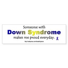 """Down Syndrome Pride"" Bumper Bumper Sticker"