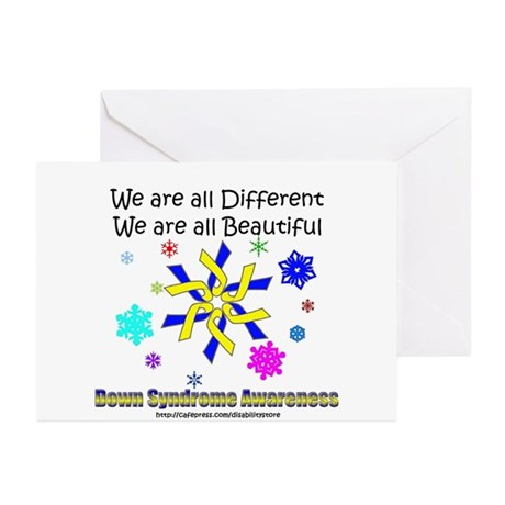 DS Ribbon Snowflake Greeting Cards (Pk of 10)