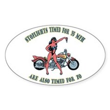 Stoplight Timing Oval Decal