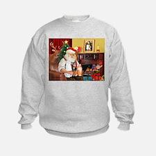Santa's 3 cats Sweatshirt