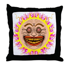 The Happy Sun Throw Pillow