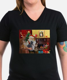 Santa's Five Cats Shirt