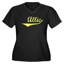 Allie Vintage (Gold) Women's Plus Size V-Neck Dark