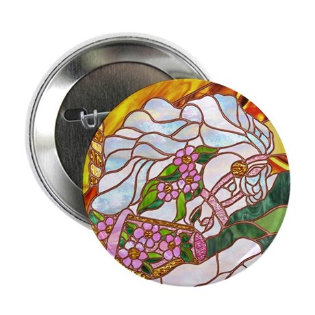 """Carousel Horse 2.25"""" Button (100 pack)"""