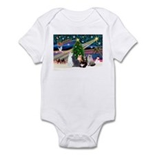 Xmas Magic / Six Cats Infant Bodysuit
