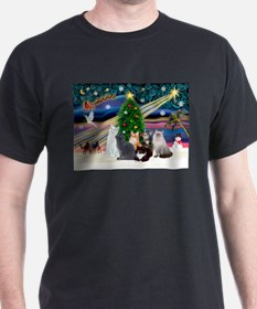 Xmas Magic / Six Cats T-Shirt