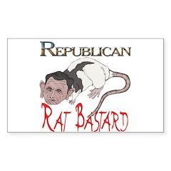 Republican Rat Bastard! Rectangle Decal