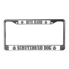 Bite Hard Schutzhund License Plate Frame